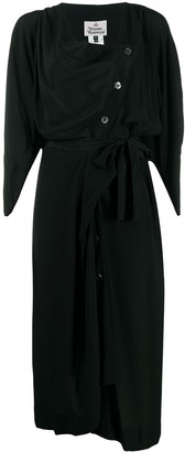 Vivienne Westwood Asymmetric Buttoned Mid-Length Dress