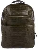 Santiago Gonzalez 2017 Crocodile Suede-Lined Backpack w/ Tags