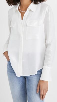 Good American Sequin Sheer Shirt