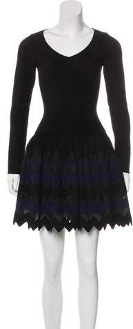 Alaia Fit & Flare Mini Dress