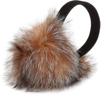 Surell Accessories Velvet & Fox Fur Earmuffs