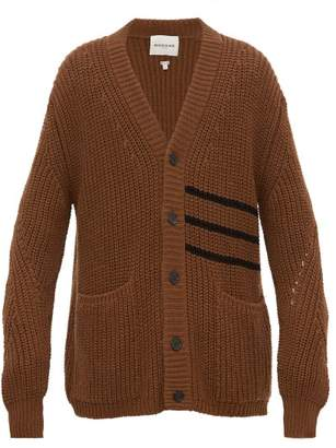 Rochas Wish Striped Wool Cardigan - Mens - Brown