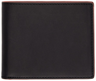 Rag & Bone Black and Red Hampshire Bifold Wallet