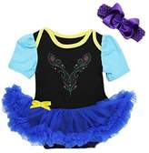 Ameda Baby Anna Princess Black Royal Blue Bodysuit Tutu Costume Black
