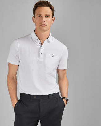 Ted Baker HUGHES Textured polo shirt