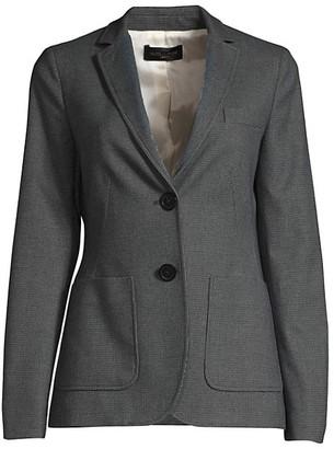 Piazza Sempione Micro-Tweed Two-Button Blazer
