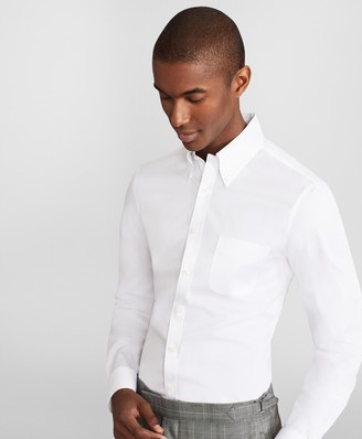 Brooks Brothers Soho Extra-Slim Fit Dress Shirt, Performance Non-Iron with COOLMAX, Button-Down Collar Broadcloth