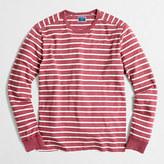 J.Crew Factory Long-sleeve deck-striped textured cotton T-shirt
