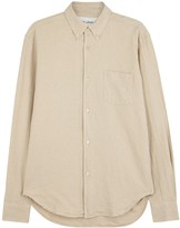 Our Legacy Off White Linen Blend Oxford Shirt