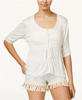 American Rag Smocked High-Low Peasant Top, Created for Macy's