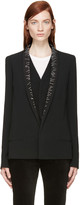 Haider Ackermann Black Stitched Lapel Blazer