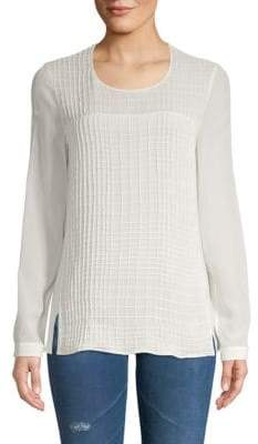 Akris Long-Sleeve Silk Top