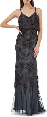 JS Collections Beaded Blouson Gown