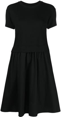 Emporio Armani Flared Panelled Cotton Dress