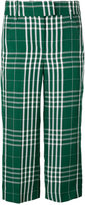 Dondup cropped check trousers - women - Cotton/Linen/Flax/Viscose - 42