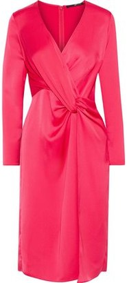 Jay Godfrey Coats Twist-front Satin-crepe Dress