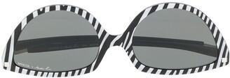 Martine Rose SOS Zebra sunglasses
