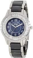 Burgi Women's BUR066BK Ceramic Bracelet Baguette Quartz Watch