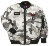 Phat Farm Boys 4-7) Camo Patch Bomber Jacket