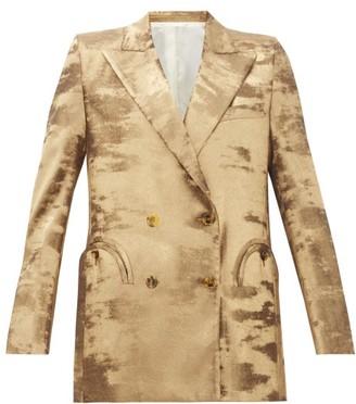 BLAZÉ MILANO Everyday Double-breasted Metallic Jacket - Gold