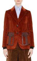 Prada Leather-Trim Corduroy Blazer