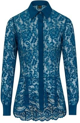 Sophie Cameron Davies Teal Lace Shirt