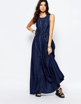 G Star G-Star Denim Maxi Dress With Tie Waist