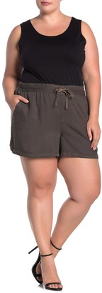 Caslon Pull-On Tencel Shorts (Plus Size)