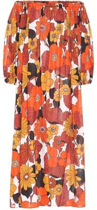Dodo Bar Or Floral cotton midi dress