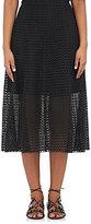 Philosophy di Lorenzo Serafini Women's Cotton Eyelet Midi-Skirt-BLACK