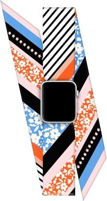 Wristpop Blue Blossom 42mm/44mm Apple Watch Scarf Watch Band