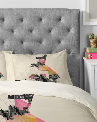 Deny Designs Ceren Kilic Filled With City Duvet Set