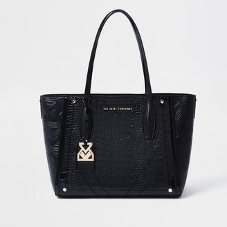 River Island Womens Rue Saint Dominique Black shopper handbag