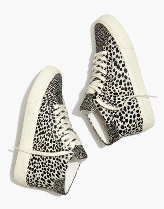 Madewell Sidewalk High-Top Sneakers in Spot Mix Suede