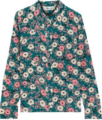 Diane von Furstenberg Samson Floral-print Silk Crepe De Chine Shirt