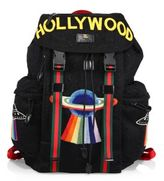 Gucci Hollywood Embroidered Mesh Drawstring Backpack
