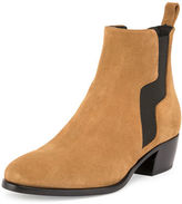 Pierre Hardy Gipsy Suede Pull-On Ankle Boot