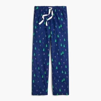 J.Crew Printed flannel pajama pant