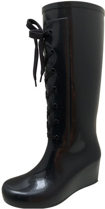 Saint Laurent Blue Rubber Boots
