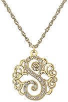 JCPenney FINE JEWELRY Personalized Diamond-Accent 14K Gold Over Silver Initial Pendant Necklace