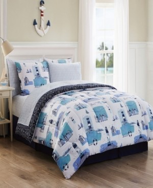 Geneva Home Fashion Stone Harbor 8 Pc King Bed In A Bag Bedding