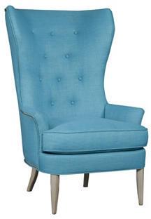 Bonham Wingback Chair, Turquoise