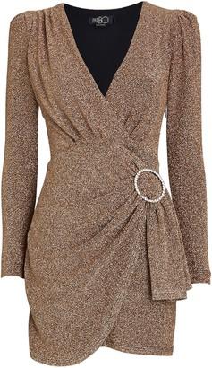 PatBO Draped Lurex Mini Dress