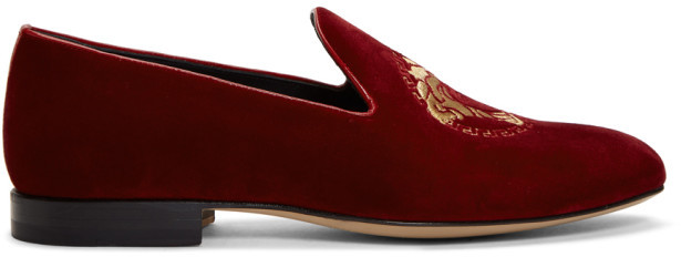Versace Red Medusa Loafers