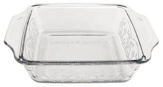 "ANCHOR Hocking Laurel 8"" Cake Dish Clear"