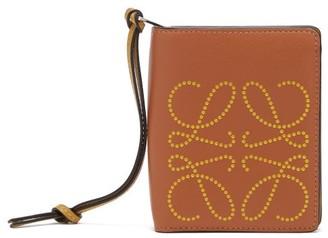 Loewe Dotted-anagram Leather Wallet - Tan Multi