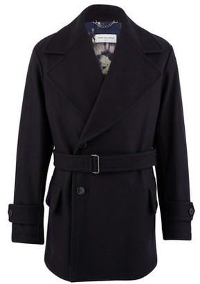 Dries Van Noten Cross over wool coat
