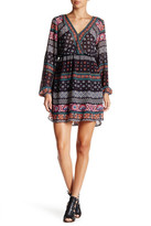 Flying Tomato Printed Surplice Dress