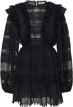 Ulla Johnson Jolie Ruffled Cotton-Blend Mini Dress