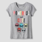 Power Rangers Toddler Girls' Powerful and Cute T-Shirt - Heather Gray